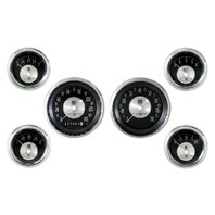 All American Series 6 Gauge Set - Black Gauge Face