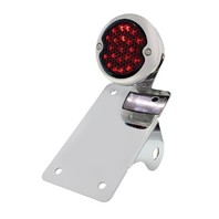 LED Bobber  Style Vertical Tail Light w/ Smoke Lens and LED License Plate Light