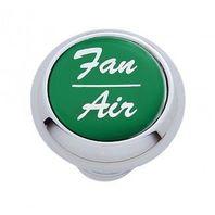 "Chrome Aluminum ""Fan/Air"" Dash Knob with Green Aluminum Sticker"