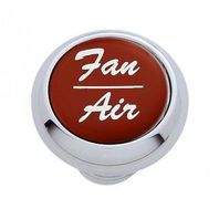 "Chrome Aluminum ""Fan/Air"" Dash Knob with Red Aluminum Sticker"
