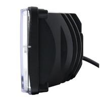 "High Power LED 4"" X 6"" Rectangular High Beam Headlight w/ Amber Auxiliary Light"
