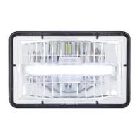 "High Power LED 4"" X 6"" Rectangular High Beam Headlight w/ Daytime Running Light"