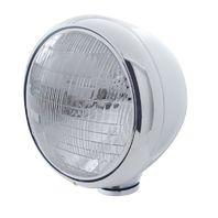 "UPI 31784 Chrome Classic ""Guide"" Headlight - 6014 Sealed Beam Bulb -30354"