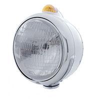 UPI 32392 Stainless  GUIDE  Headlight - H6024 Bulb w/2 Function Amber LED & Lens