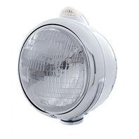UPI 32403 Chrome  GUIDE  Headlight - H6024 Bulb 2 Function Amber LED/Clear Lens
