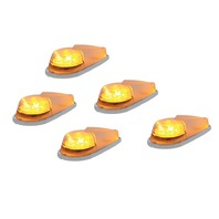 (5) 6 LED Pickup Cab Marker Lights - Amber LED with Clear Lens
