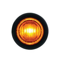 1 SMD LED Mini Clearance/Marker Light - Amber LED/Amber Lens - Truck Trailer Jeep