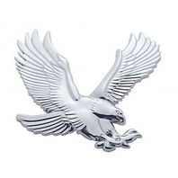 Chrome Plastic Eagle Accent Facing Right Universal Fit
