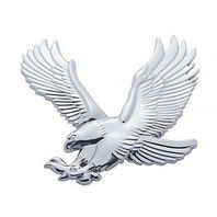 Chrome Plastic Eagle Accent Facing Left Universal Fit