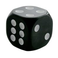 "Black & White Dice Gearshift Knob 1-7/8"" Square High-impact Plastic Universal"