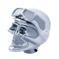 Universal Chrome Aluminum Skull Shift Knob Hot Rat Street Rod Custom Vintage