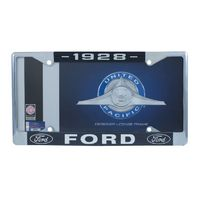 1939 Ford License Plate Frame Chrome Finish with Blue and White Script