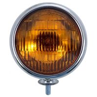 UPI C364009 Chrome Vintage Amber Fog Light 6V