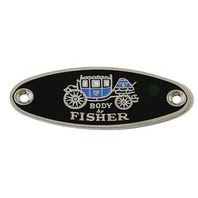 1933-39 Body By Fisher Body Tag Emblem, Classic Car, GM, Street Rod, Each