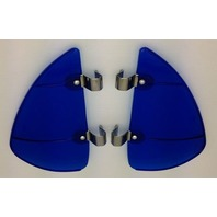 Vintage Style Blue Accessory Vent Wing Air Deflector Breeze Breezies Pair