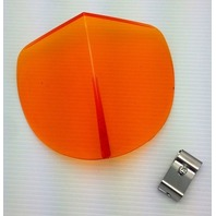 Vintage Style Amber Hood BI-FLECTOR Windshield Reflector