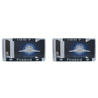 1967 Pontiac Firebird Chrome License Plate Frame with 4 Hole Mount, Set of 2