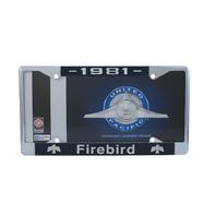 1981 Pontiac Firebird Chrome License Plate Frame with 4 Hole Mount
