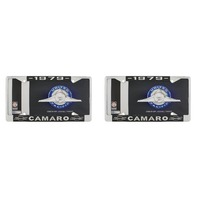 "1979 Chevy ""Camaro"" Chrome License Plate Frame with Year and Bowtie, Set of 2"