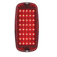 1960-66 Chevy Pickup Fleetside Tail Light Assembly, Red LED / Red Lens, Each