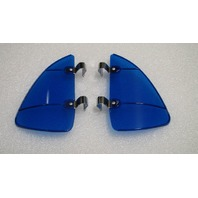 VW Bug,Ghia Bus,Vent window Breeze Breezies Airflow Deflectors Blue pr.