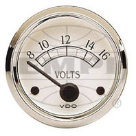 VW BUG AIR COOLED, VDO COCKPIT ROYAL VOLTMETER GAUGE 8-16 VOLTS 332702