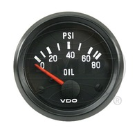 VW BUG AIR COOLED, VDO COCKPIT OIL PRESURE GAUGE 0-80 PSI 350040