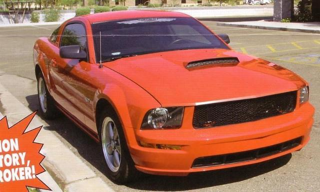 Ram Air Cowl Induction Hood : New  ford mustang quot ram air style cowl