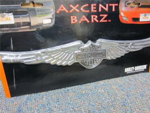 new harley davidson chrome wings car trucksuv van license plate frame top