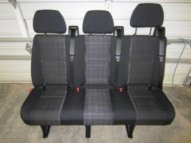 14 16 Mercedes Benz Sprinter Van 3 Passenger Black Cloth Rear Bench Seat Ebay