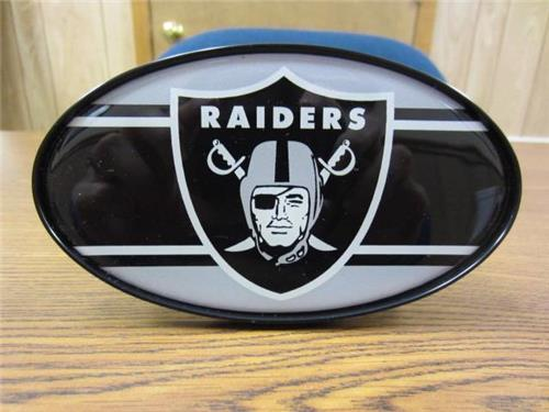 oakland raiders nfl truck trailer plastic 2 hitch cover receiver insert. Black Bedroom Furniture Sets. Home Design Ideas