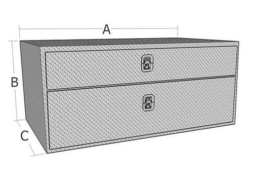 24 Quot Underbody Aluminum Diamond Plate Tool Box W Drawer