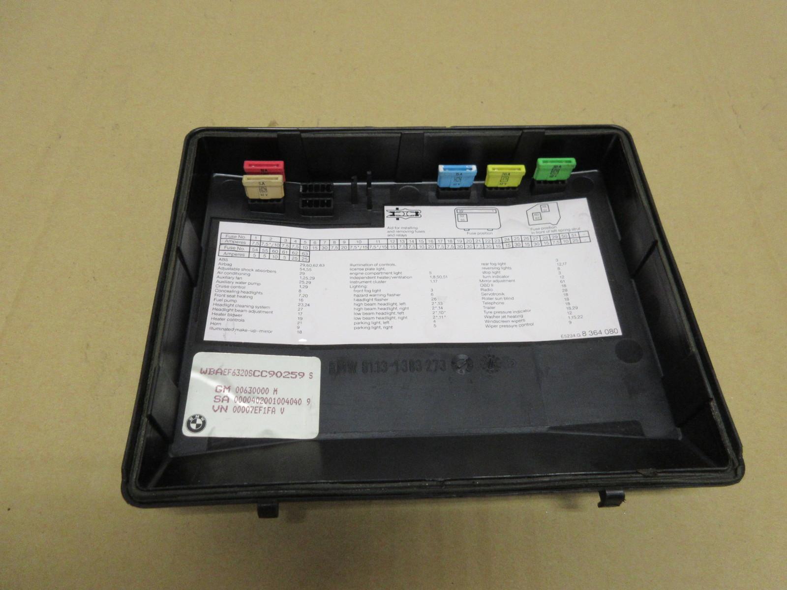 1995 bmw 840i e31 1019 engine bay fuse relay box cover BMW 325I Fuse Box Location BMW Fuse Box Location