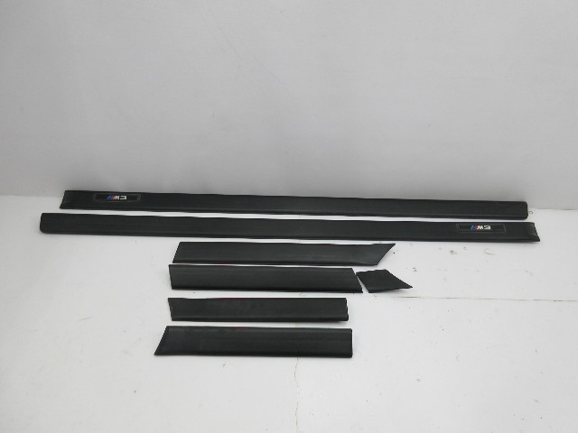 1999 BMW M3 E36 Convertible #1046 Exterior OEM Body Side Moulding Set Black