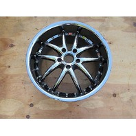 Chevrolet Corvette C6 C5 SR1 Ultra Deep Dish Rear 19 x 10 Wheel Black Chrome