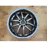 Chevrolet Corvette C6 C5 SR1 Ultra Deep Dish Front 18 x 8 1/2 Wheel Black Chrome