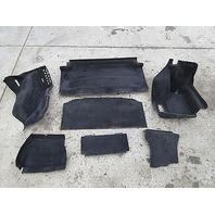 Aston Martin V8 Vantage Roadster #1014 Trunk Boot Carpet Lining Trim Set Black
