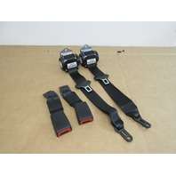 2013 BMW 335is 335i E92 #1018 Coupe Rear Seat Belt Set Buckles Recievers Black
