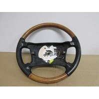 1995 BMW 840i E31 #1019 OEM Wood Grain & Leather Black Steering Wheel
