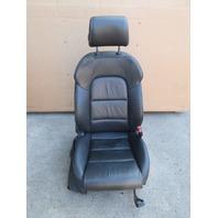 2013 Audi A3 Front Passenger Black Leather Sport Seat