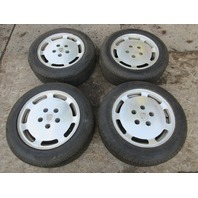 Porsche 928 S4 928S4 #1022 OEM 7-Slot 16' Wheels & Tires 16 x 8 Forged