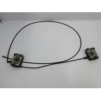 1999 BMW Z3 M Roadster E36 #1036 Hood Lock Latch Set & Cables 8122269 8122270