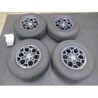 "16-17 Toyota Tacoma Factory OEM 16"" Dark Anthracite Grey Wheels & Firestone Tires"
