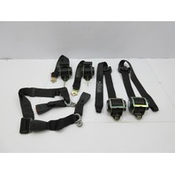 2003 BMW M3 E46 #1039 Coupe Front & Rear Seatbelts & Clips Receivers Black