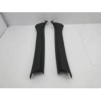 2003 BMW M3 E46 Convertible #1040 Black A-Pillar Pair 51448223171 51448223172