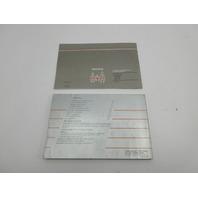 1988 Toyota Supra MK3 #1042 OEM Original Factory Owners Manual Set