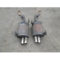 2000 BMW Z3 M Roadster E36 #1044 OEM S52 Quad Tip Exhaust Mufflers W/Mounts