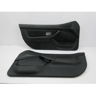 1998 BMW Z3 M Roadster E36 #1045 Black Nappa Door Panels Pair W/O Airbag
