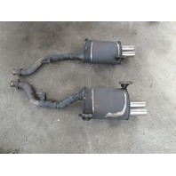 1998 BMW Z3 M Roadster E36 #1045 OEM S52 Quad Tip Exhaust Mufflers W/Mounts