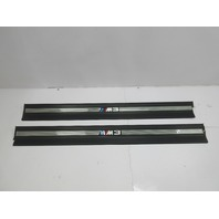 1999 BMW M3 E36 Convertible #1046 OEM Door Sill Set Pair Black
